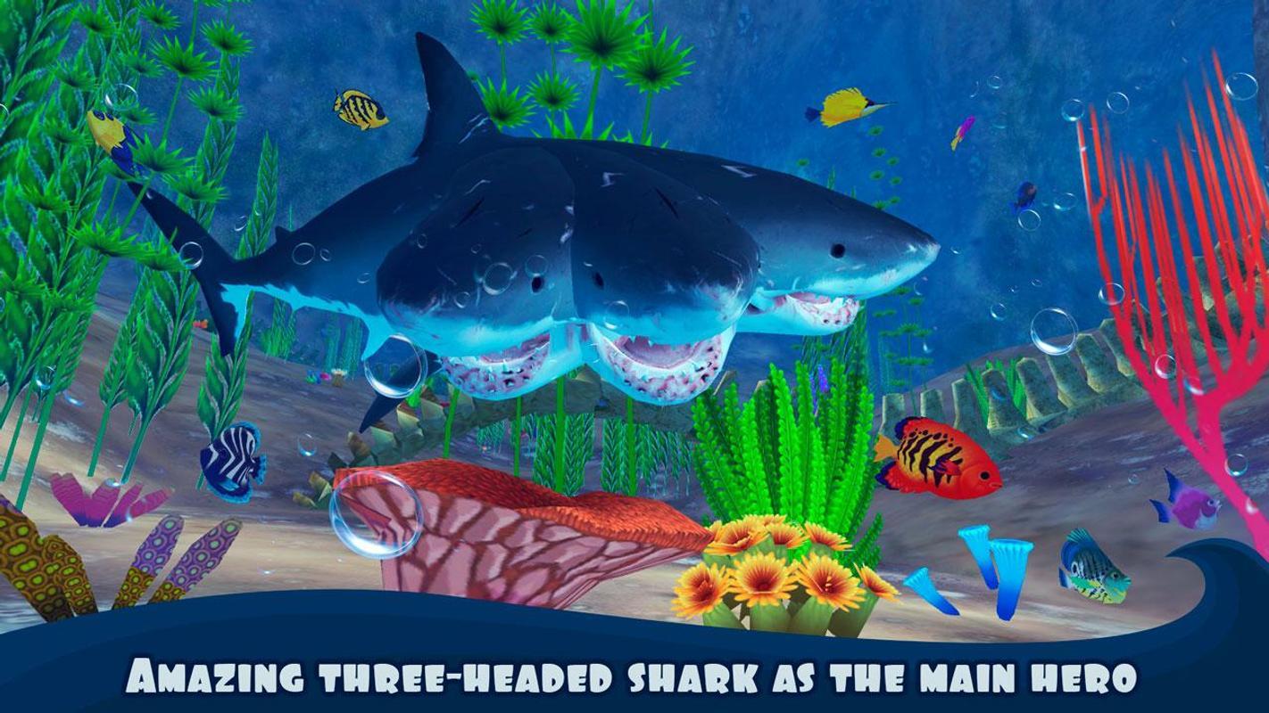 4 headed shark