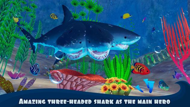 Three Headed Shark Underwater Survival poster