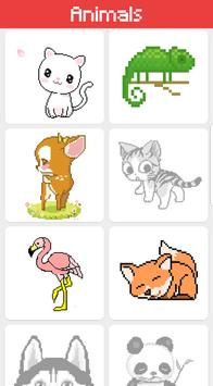 Animals color by number - sandbox number coloring screenshot 1