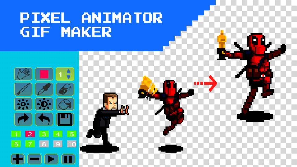3d Pixel Animation Maker Mp4 Video And Gif For Android Apk Download