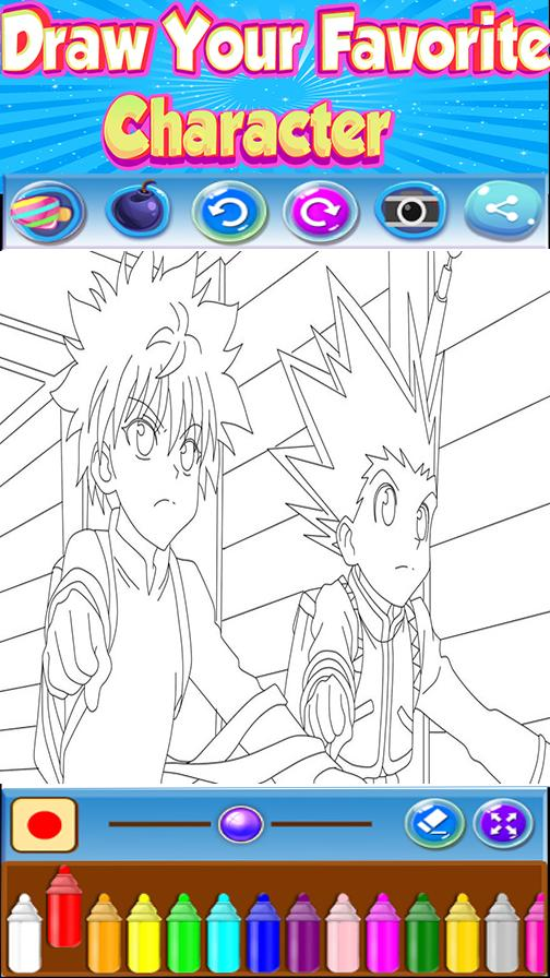🇺🇸 Coloring book for Hunter x Hanter poster