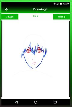 Drawing anime step by step apk screenshot