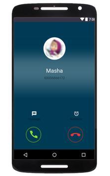 Fake Masha Call Bear Prank poster