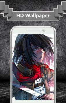Mikasa Ackerman Wallpaper screenshot 3