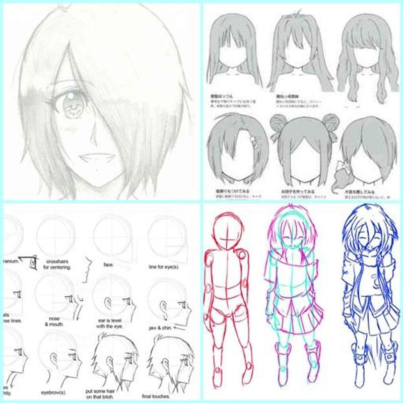 Anime drawing step by step