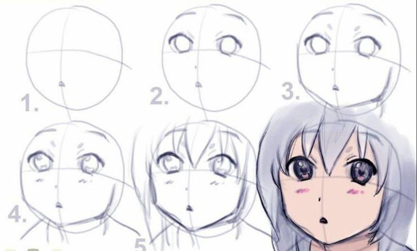 Anime drawing tutorials poster