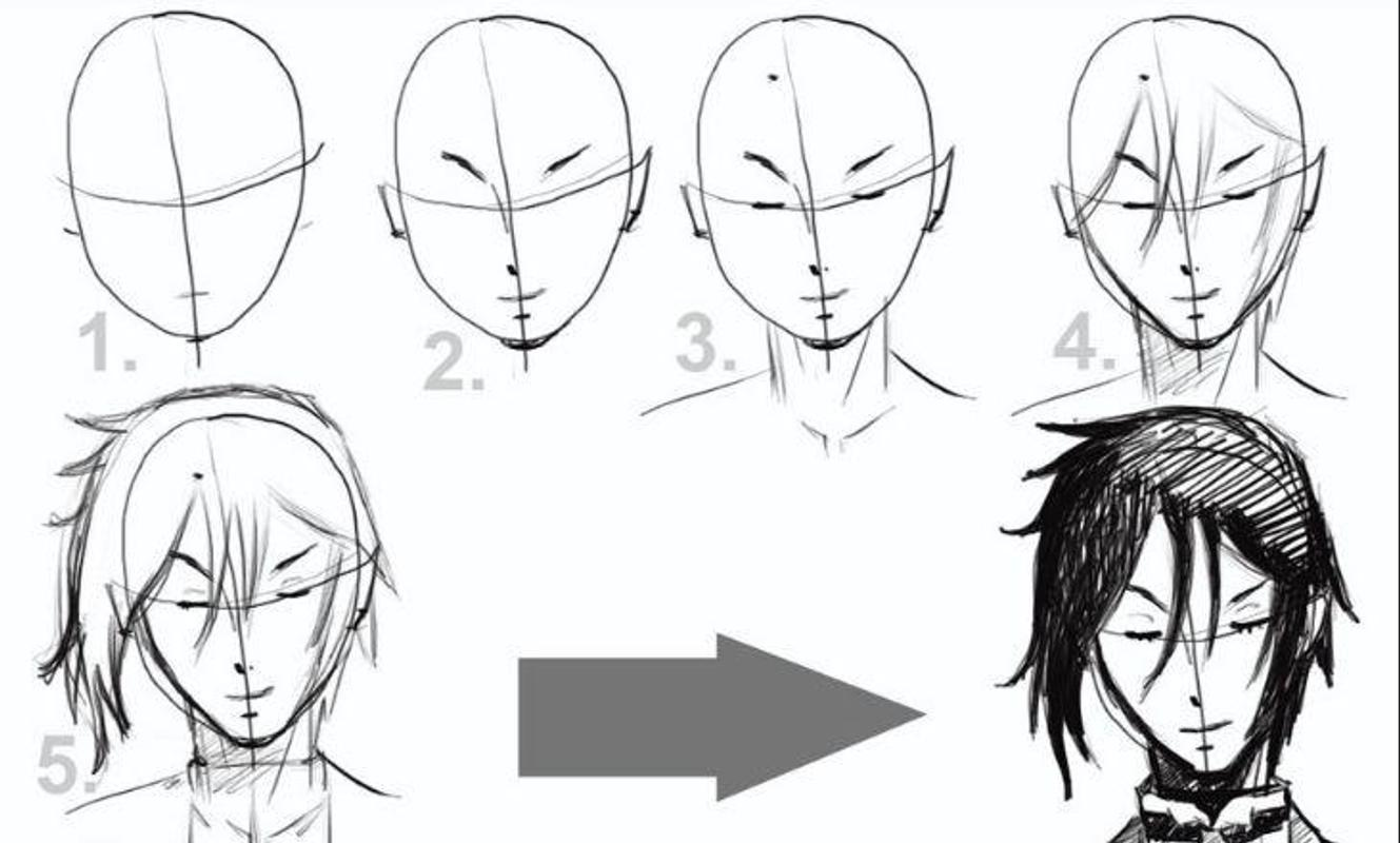 Anime drawing tutorials poster anime drawing tutorials apk screenshot