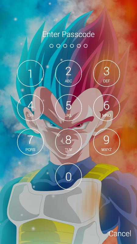 Vegeta Fan Anime Lock Screen Wallpaper Screenshot 6