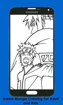 Anime Manga Coloring Book For Adult and Kids apk screenshot