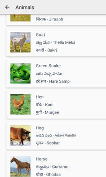 English to Telugu, Hindi screenshot 4