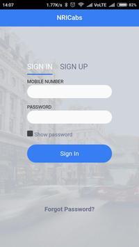 NRI cabs apk screenshot