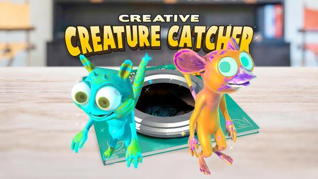Creative Creature Catcher AR poster