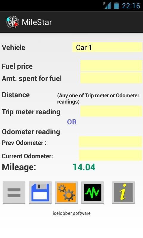 MileStar Mileage calculator poster