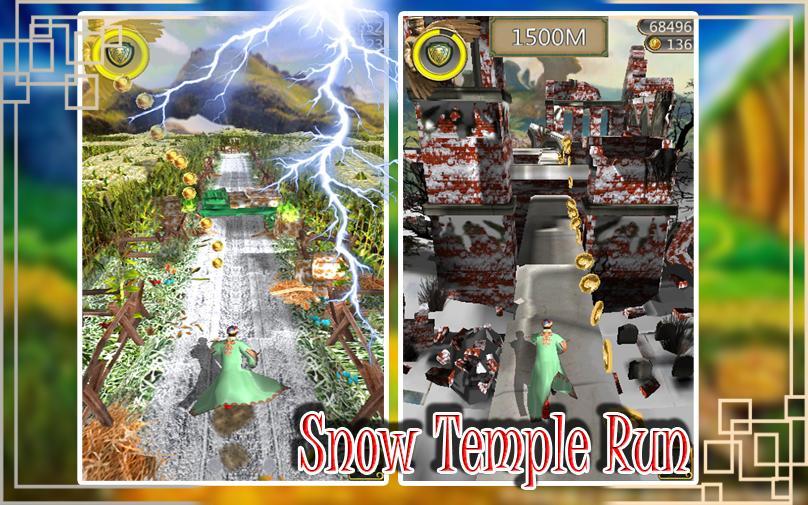 Snow Temple Run poster