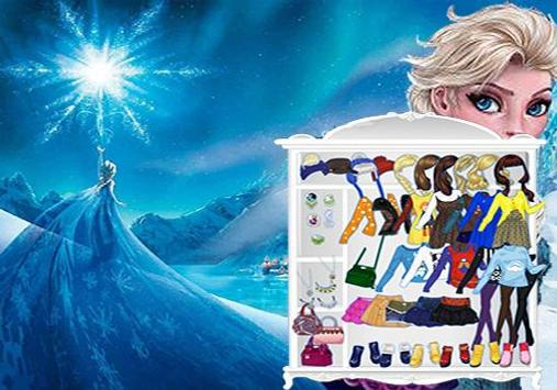 Anna And Elsa Dress Up Game poster