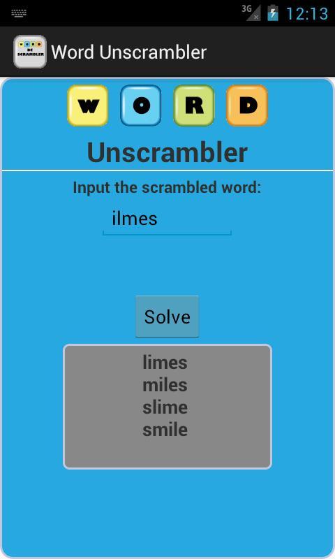 Word Unscrambler poster ...