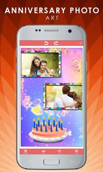 Anniversary Photo Art Frames Pics Lab Effects poster