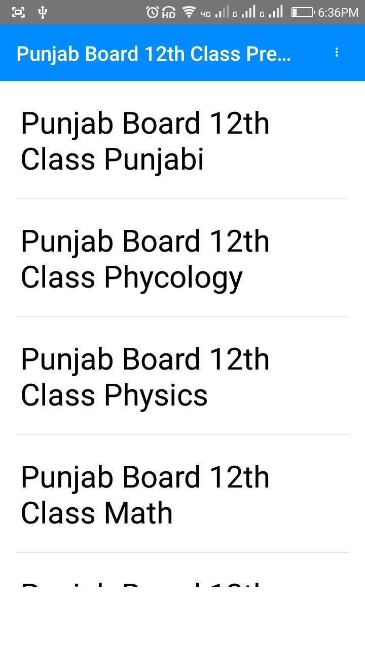 Punjab Board 12th Question PDF for Android - APK Download