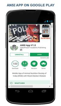 Animal Nutrition Soc. of India (ANSI) App poster