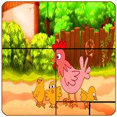cock Cartoon  Puzzle 2018 icon
