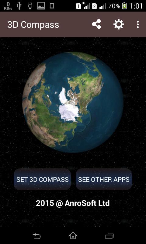 3D Compass Live Wallpaper Poster