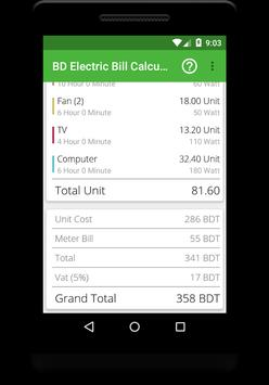 Electricity Bill Calculator BD screenshot 3