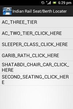 Indian Rail Seat/Berth Locator poster