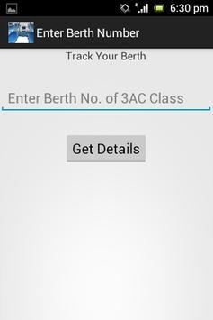 Indian Rail Seat/Berth Locator screenshot 1