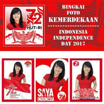 Bingkai Foto Kemerdekaan Republik Indonesia poster