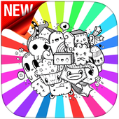 Doodle Art Coloring Page - Easy icon