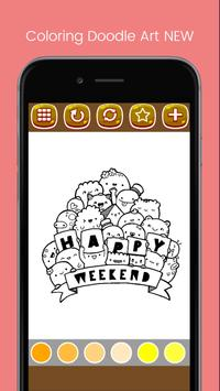 Doodle Art Coloring Page - Easy screenshot 2