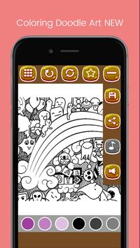 Doodle Art Coloring Page - Easy screenshot 4