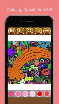 Doodle Art Coloring Page - Easy screenshot 5