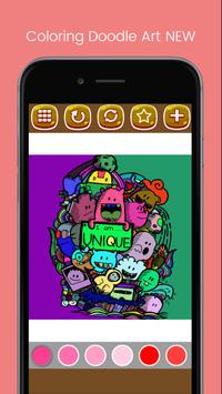 Doodle Art Coloring Page - Easy screenshot 6