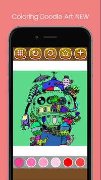 Doodle Art Coloring Page - Easy screenshot 9