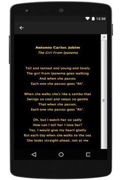 Antonio Carlos Jobim Lyrics apk screenshot