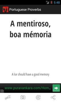 Portuguese Proverbs screenshot 1