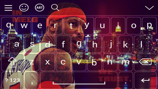 carmelo anthony keyboard poster