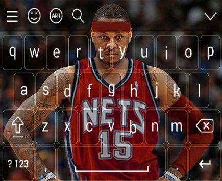 carmelo anthony keyboard apk screenshot