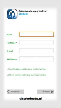 Discriminatie melden apk screenshot