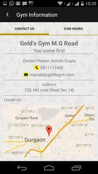 Gold's Gym M.G Road poster