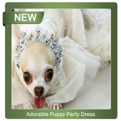 Adorable Puppy Party Dress icon