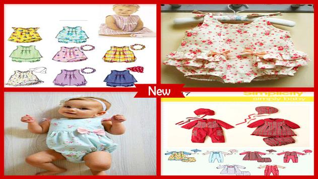 Baby Romper Sewing Pattern poster