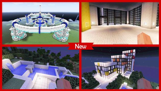 Futuristic House Minecraft poster