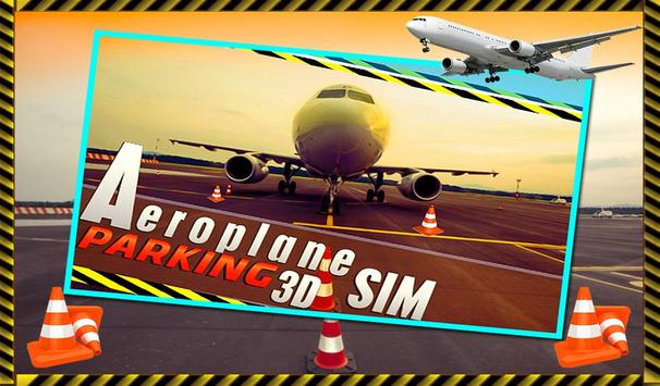 Parking Airplane Sim 3D 2017 poster