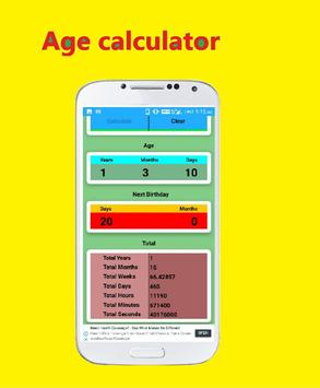 Age Calculator - Calculate Age in year,days,hours poster