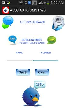 Auto SMS forward poster