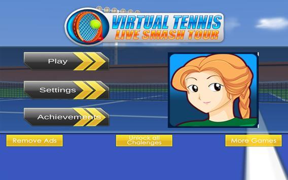 Virtual Tennis Live Smash Tour apk screenshot