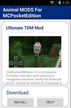Animal MOD For MCPocketEdition screenshot 2