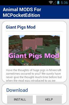 Animal MOD For MCPocketEdition screenshot 5